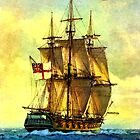 British warship  by markmonty