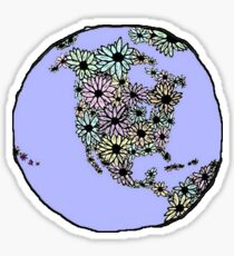 Flower Earth Sticker