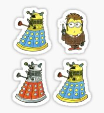 10th Minion Doctor and Daleks Sticker