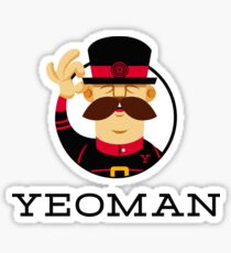 The Official Yeoman Sticker Sticker