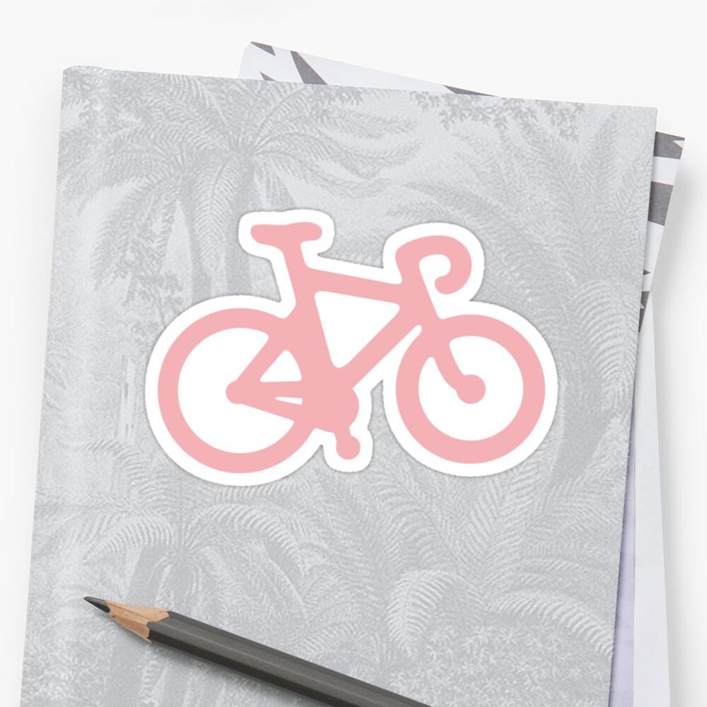 Baby-Rosa-Fahrrad mit Streifen Sticker