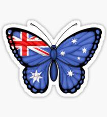 Australian Flag Butterfly Sticker