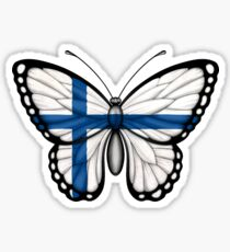 Finnish Flag Butterfly Sticker