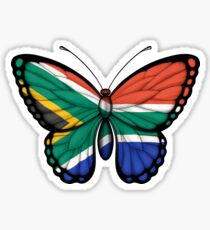 South African Flag Butterfly Sticker