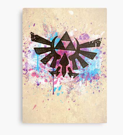 Triforce Emblem Splash Metal Print