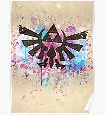 Triforce Emblem Splash Poster