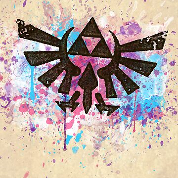 Triforce Emblem Splash by B-Rye