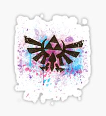 Triforce Emblem Splash Sticker