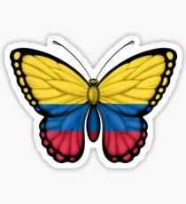 Colombian Flag Butterfly Sticker