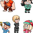 Wreck it Ralph chibis by TipsyKipsy