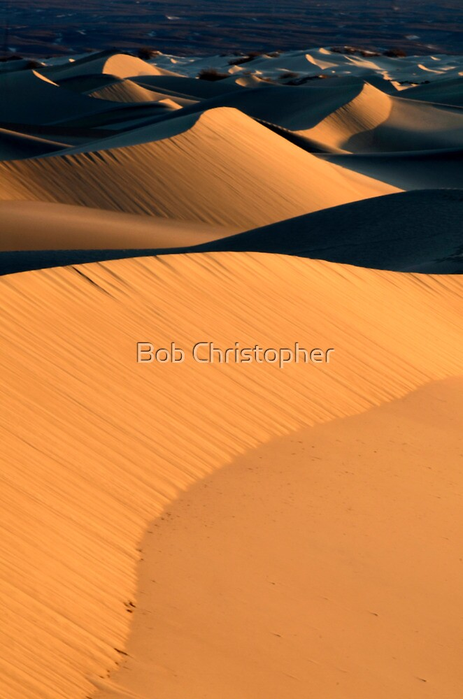 Mesquite Dunes Death Valley by Bob Christopher