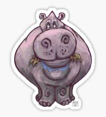 Animal Parade Hippopotamus Silhouette Sticker