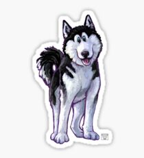 Animal Parade Husky Silhouette Sticker
