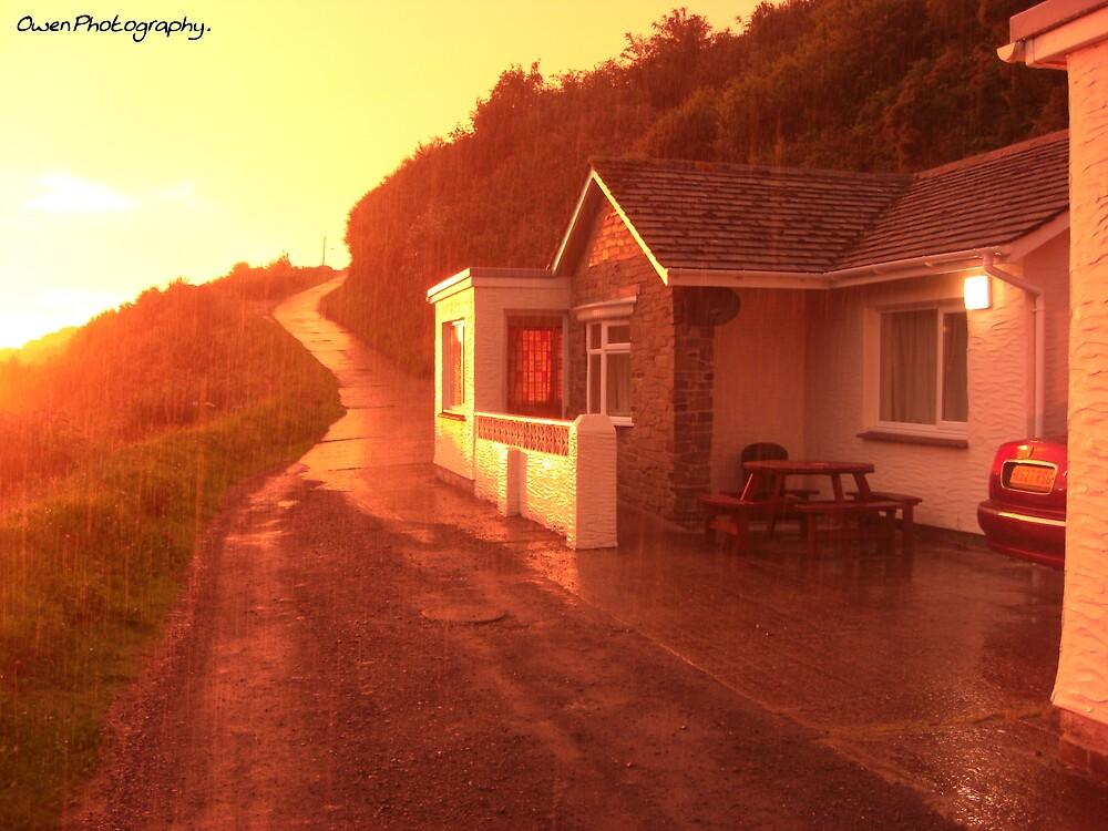 Sunset & Rain by missemilyo