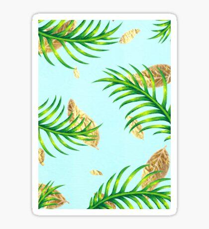 Golden Palms Sticker