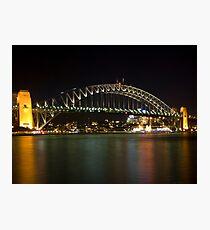bridge over vivid water Photographic Print