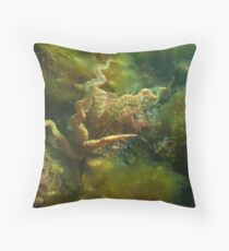 Giant Australian Cuttlefish (Sepia apama) is a master of disguise Throw Pillow
