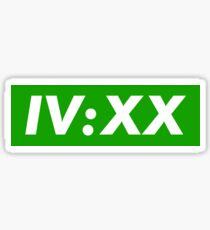 IV:XX Supreme Green Sticker