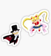 Sailor Moon and Tuxedo Mask Sticker