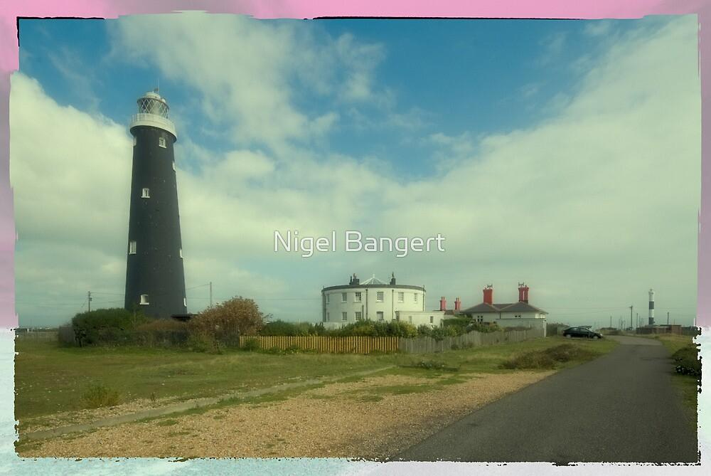Dungeness Lighthouses  by Nigel Bangert