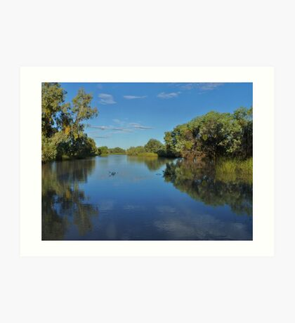 Early evening river scenes  Art Print