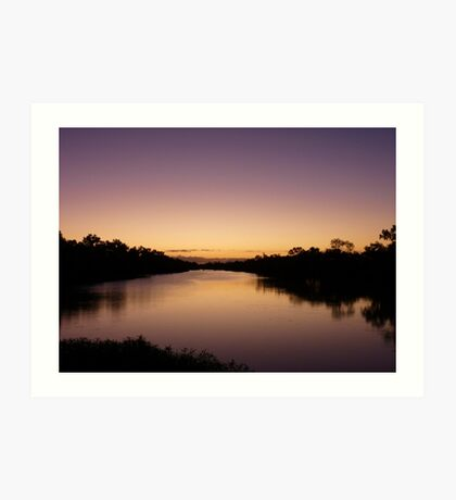 Sunset over the Thompson River, Longreach Art Print