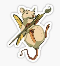 Artistic Rat Sticker