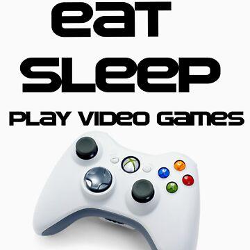 Eat Sleep Play xbox by iKillor