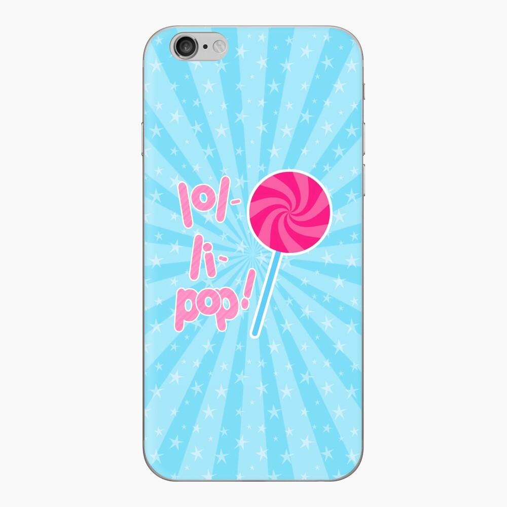 Pink and Blue Lollipop  Vinilo para iPhone