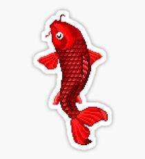 red koi Sticker