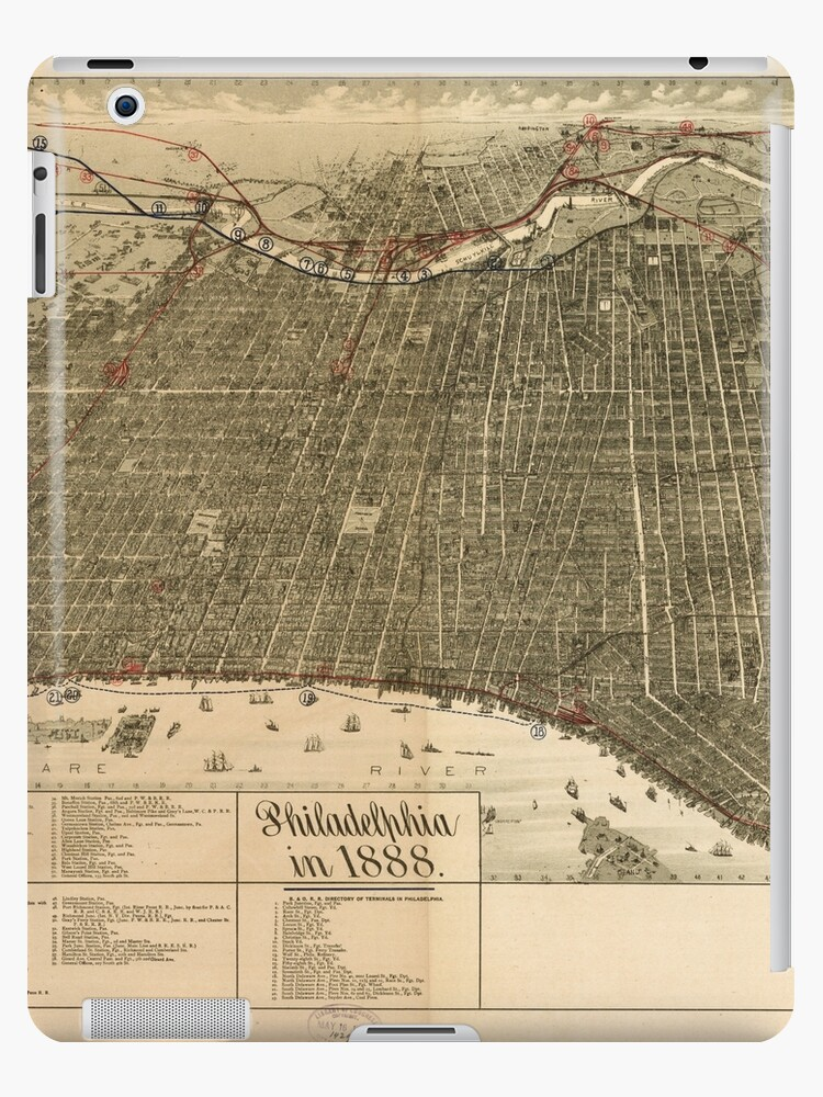Panoramic Maps Philadelphia in 1888 by wetdryvac