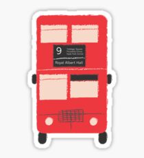 Red Double Decker Bus - Vintage London, England, UK Sticker