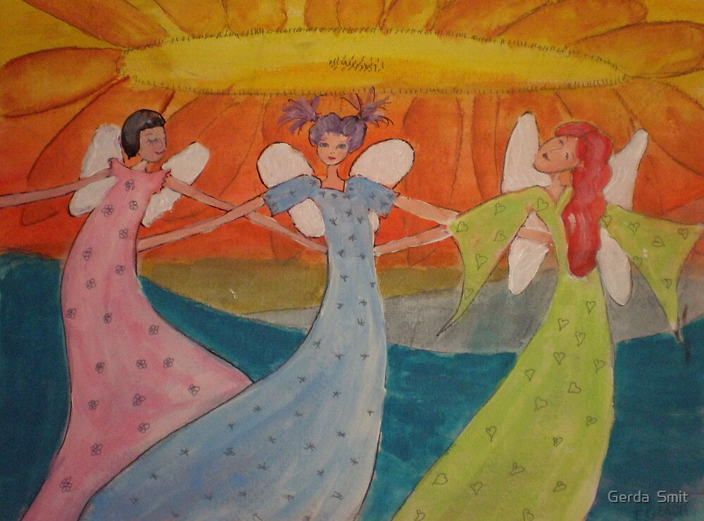 3 Angels by Gerda  Smit