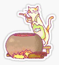 Cat Cooking Sticker