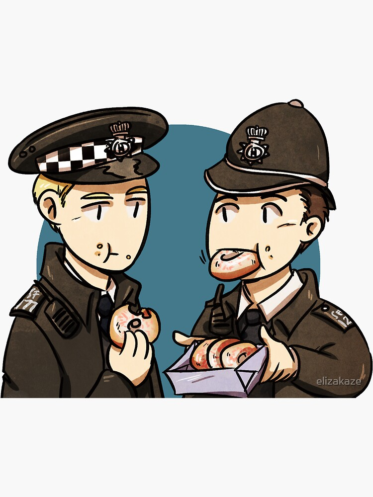 Hot Fuzz and donuts by elizakaze