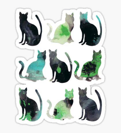 Nine Cats Sticker