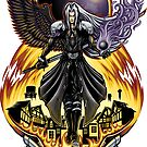 One Winged Angel - Sticker by TrulyEpic