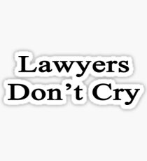Pegatina Lawyers Don't Cry