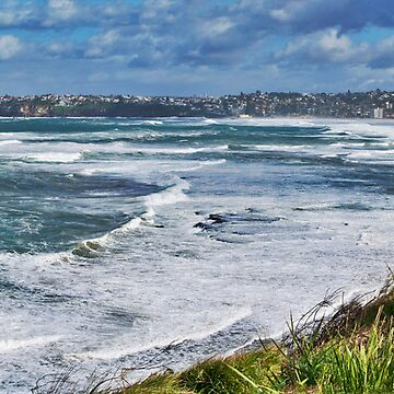 Rough seas from Long Reef lookout by ant1design