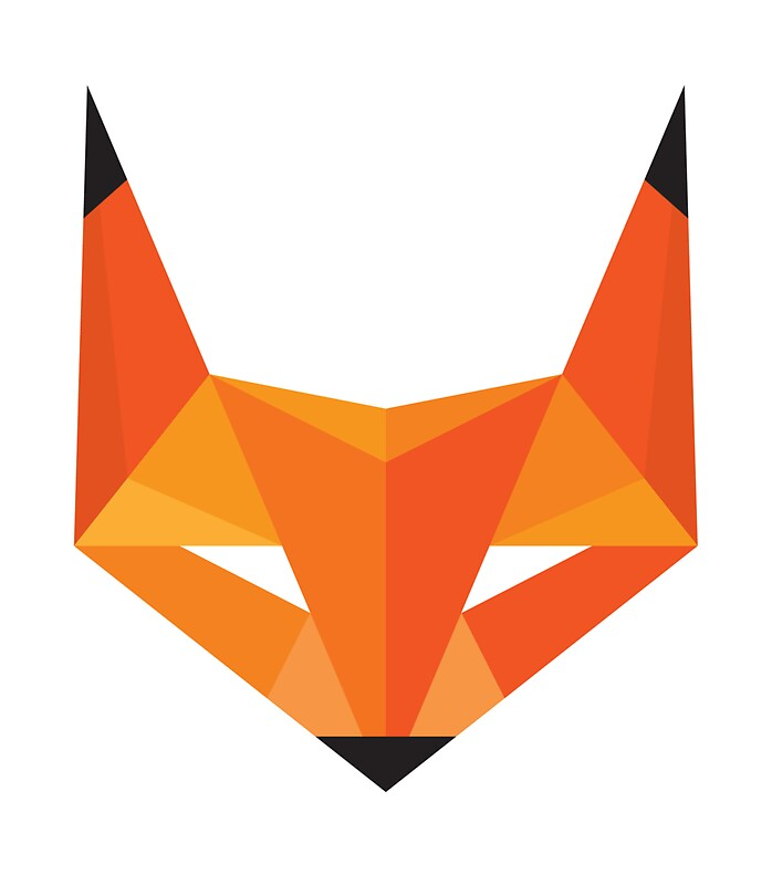 Fox head abstract geometric illustration sticker quot stickers by