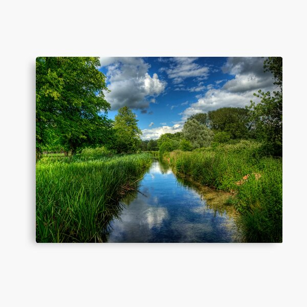 Itchen Reflections - Winchester Canvas Print