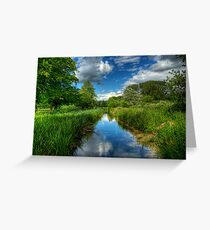 Itchen Reflections - Winchester Greeting Card
