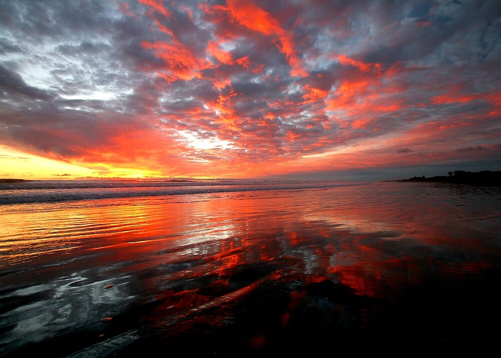 Sunset reflections by Laurence Norah