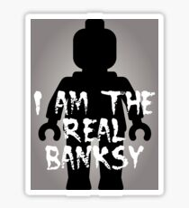 "Black Minifig with ""I am the Real Banksy"" Sticker"