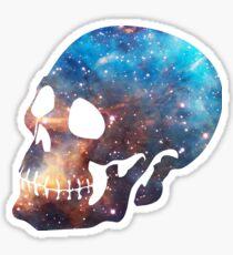Deep Galaxy Skull Design Sticker
