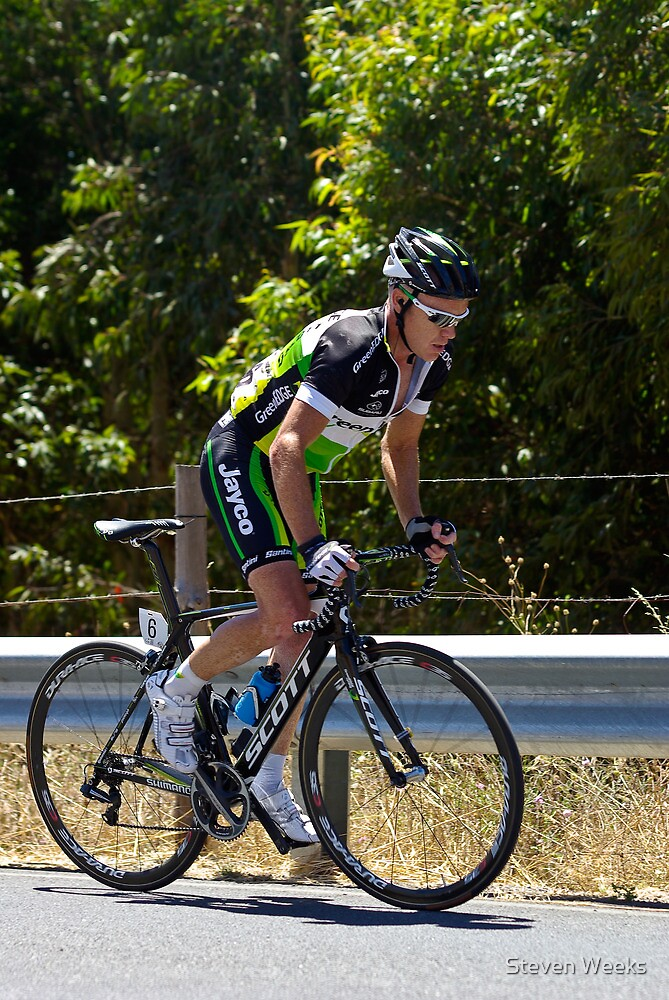 Stuart O'Grady, Stage 5, Old Willunga Hill, Tour Down Under 2012 by Steven Weeks