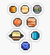 Mini Pixel Planets - Set of 8 Sticker