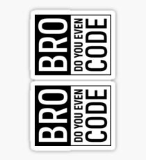 Bro Do You Even Code Sticker
