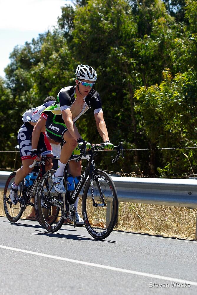 Jack Bobridge, Stage 5, Old Willunga Hill, Tour Down Under 2012 by Steven Weeks