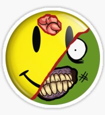 Zombie Happy Face Sticker